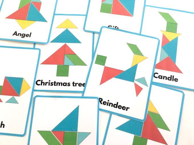 christmas tangram 10 patterns to print  kidslife