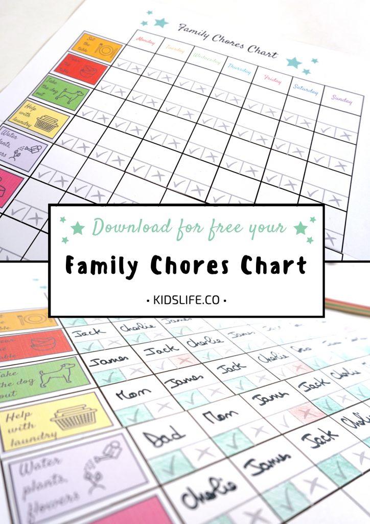 Family Chores Chart Pinterest