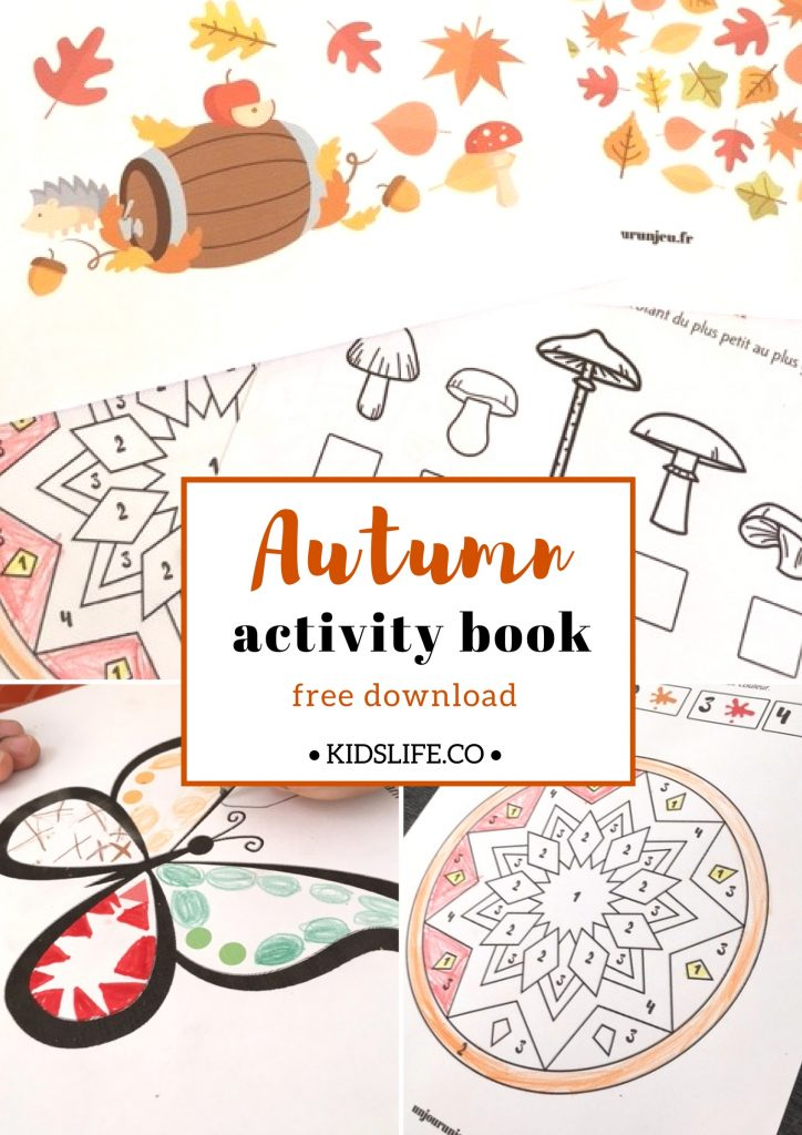 Autumn activity book to download