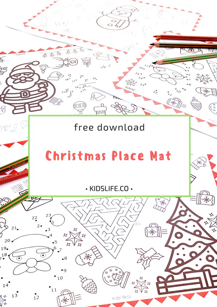Printable Christmas place mat