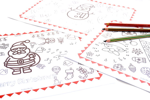 christmas place mat for kids