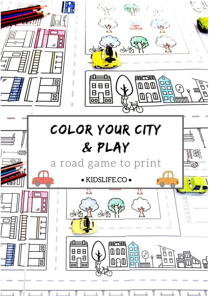 your city to color and to play