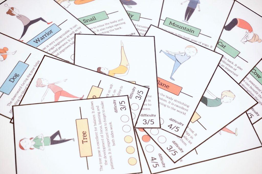 Free cards yoga children